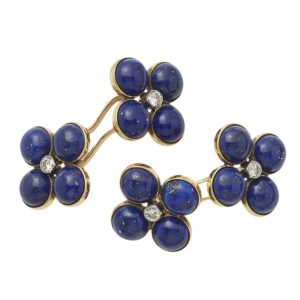 1950's lapis and diamond cufflinks