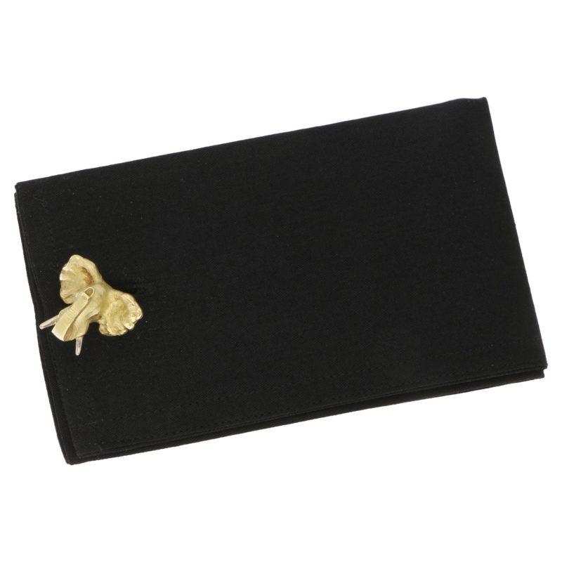 18k yellow gold elephant cufflinks