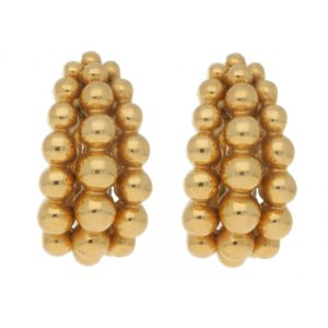"Boucheron ""Grains de Raisin"" clip earrings in yellow gold"