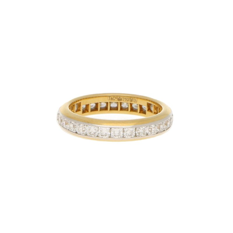Lucida full eternity ring, yellow gold and platinum