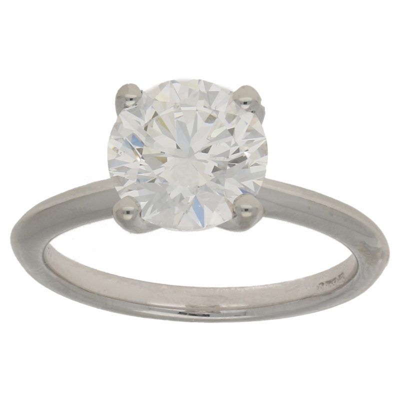 GIA Certified Diamond Solitaire Ring Platinum