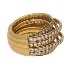 "de Grisogono ""Allegra"" diamond ring in yellow gold"