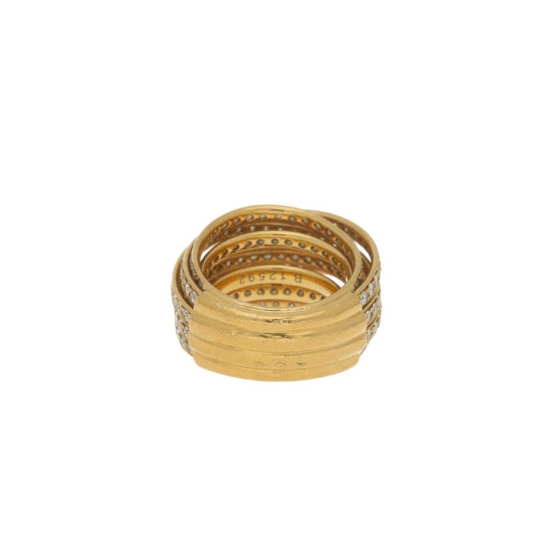 "de Grisogono ""Allegra"" diamond ring in yellow gold"