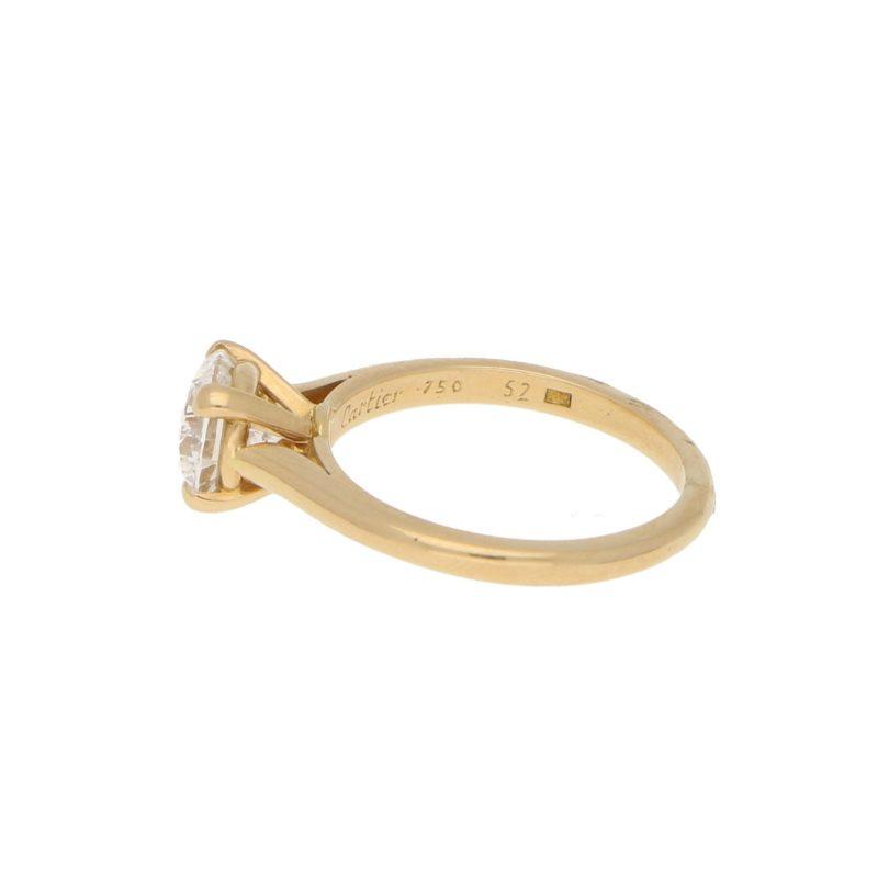 Vintage Cartier 1.25ct Solitaire Diamond Engagement ring