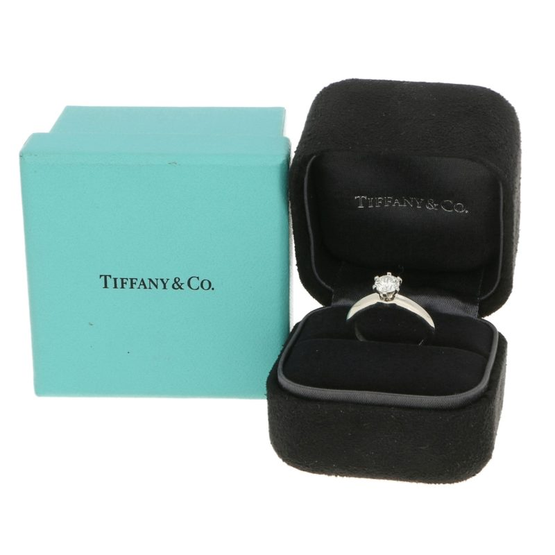 Tiffany & Co. Diamond Solitaire Ring in Platinum