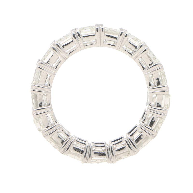 12.53ct Emerald-Cut Diamond Full Eternity Ring in Platinum