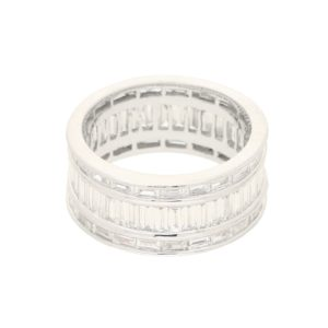 3.71ct Baguette-Cut Diamond Fancy Full Eternity Ring in Platinum
