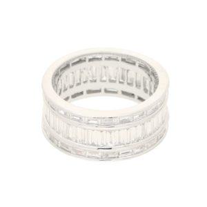3.71ct Baguette-Cut Diamond Fancy Full Eternity Ring in Platinum
