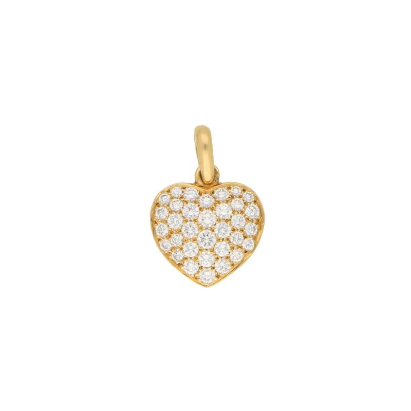 Boucheron pave set diamond heart