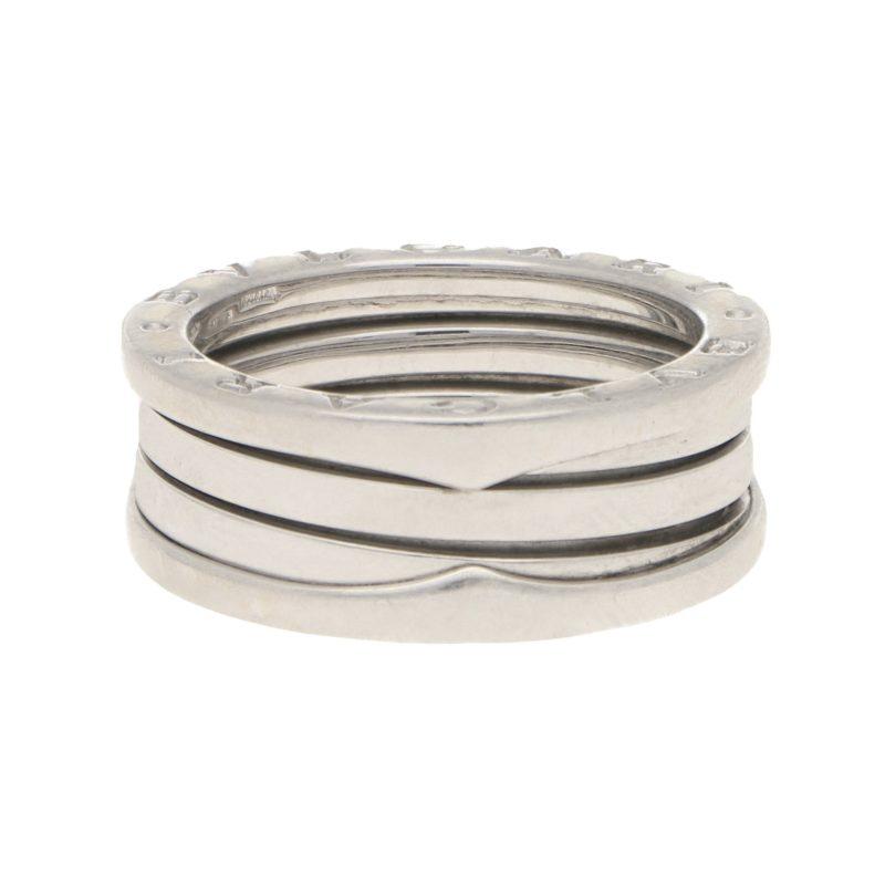 Vintage B.zero1 Three-Band Ring in White Gold