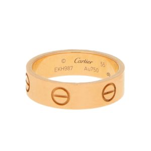 "Cartier ""Love"" Ring in Rose Gold"