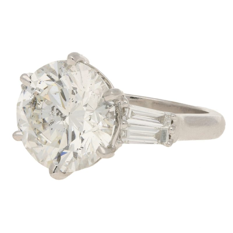 7.80ct Diamond Solitaire Engagement Ring White Gold