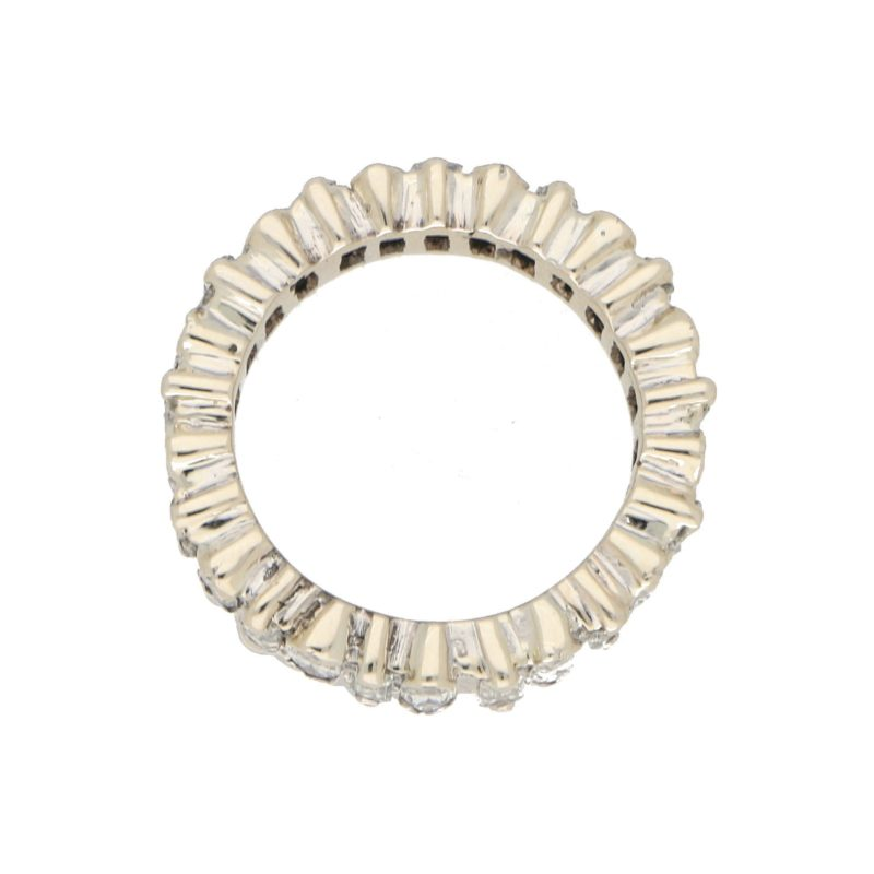 Marquise-Cut Baguette-Cut Diamond Full Eternity Ring White Gold