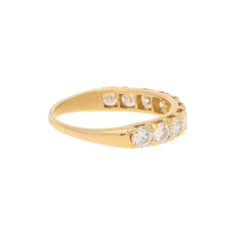 Oscar Heyman 1.30ct Diamond Half-Eternity Ring in Yellow Gold