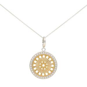 Vintage Bucherer Openwork Medallion Diamond Pendant