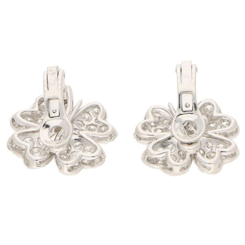 7.36ct Diamond Clover Earrings/Pendants in Platinum