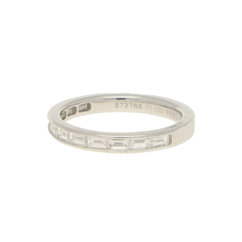 Vintage Baguette-Cut Diamond Half-Eternity Band in Platinum