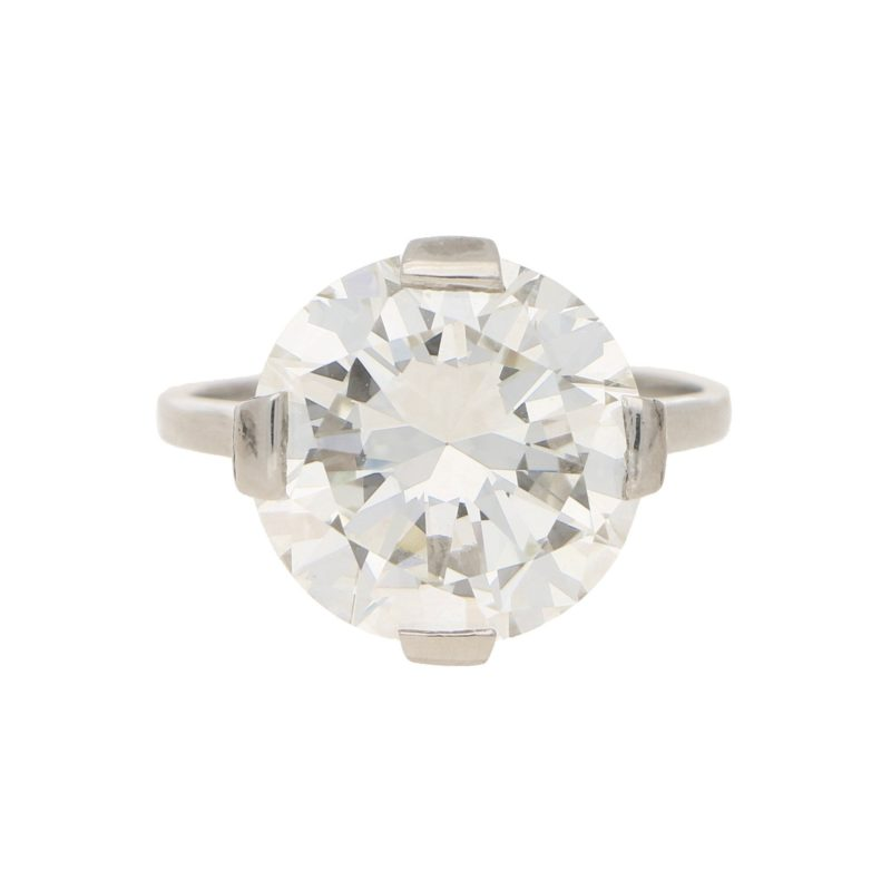 Art Deco 7.49ct Diamond Solitaire Engagement Ring