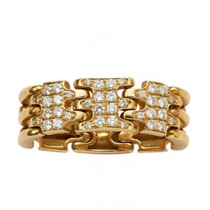 18ct yellow gold and diamond flexible dress ring
