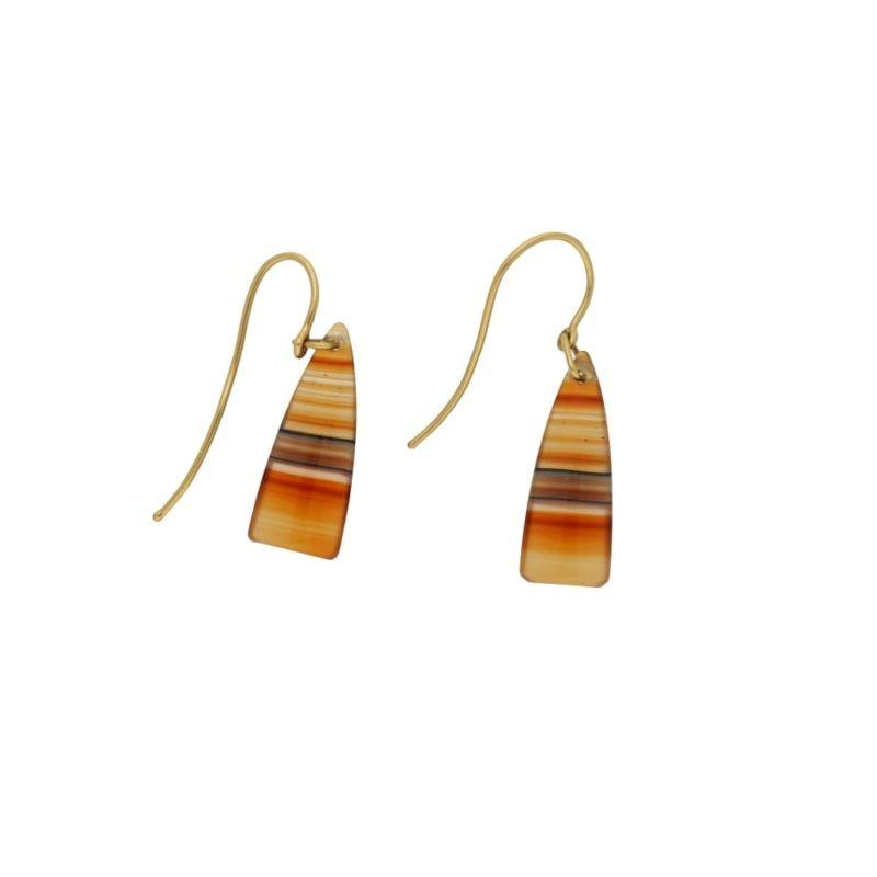 9ct gold chalcedony drop earrings