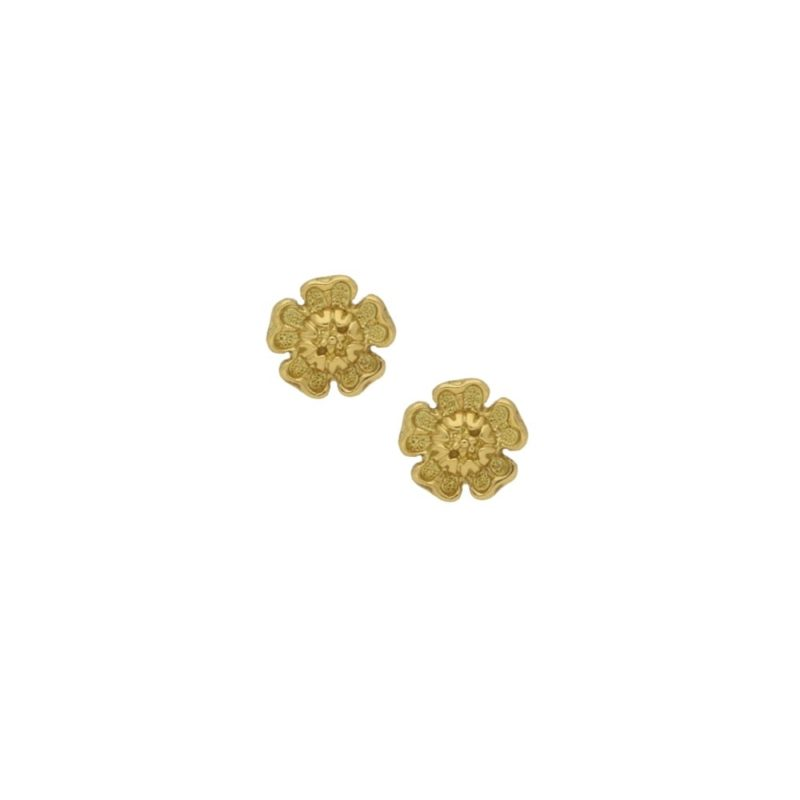 9ct gold Hibiscus earrings