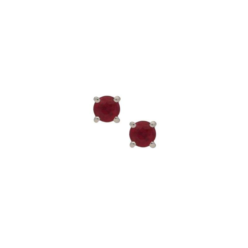 18ct gold ruby stud earrings
