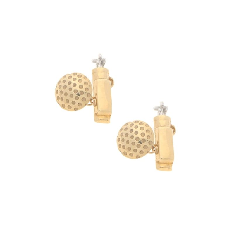 9ct gold golf cufflinks