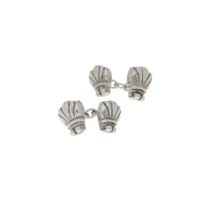 Sterling silver bug chain link cufflinks