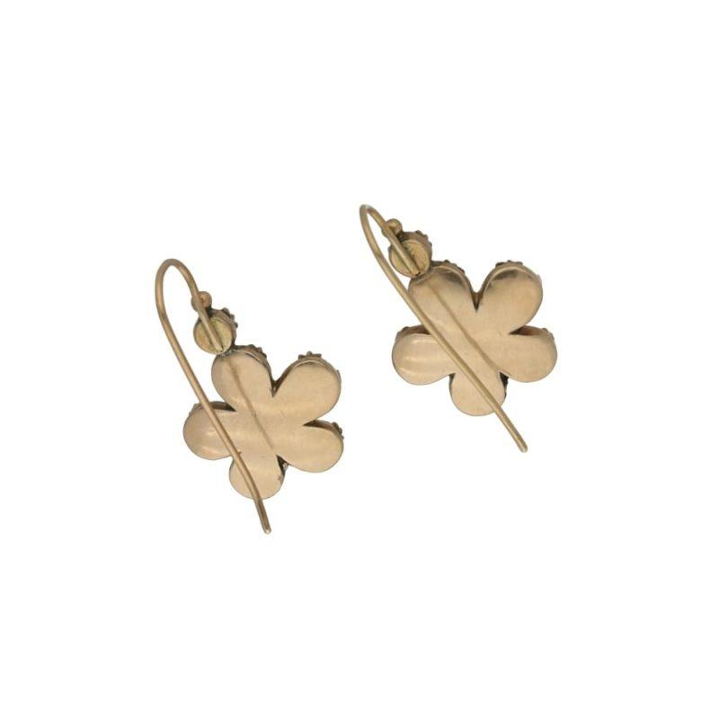 A pair of antique garnet earrings