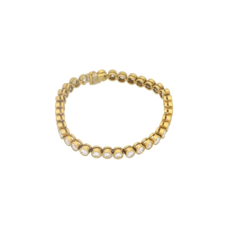 9.10ct Diamond Line Bracelet in Yellow Gold
