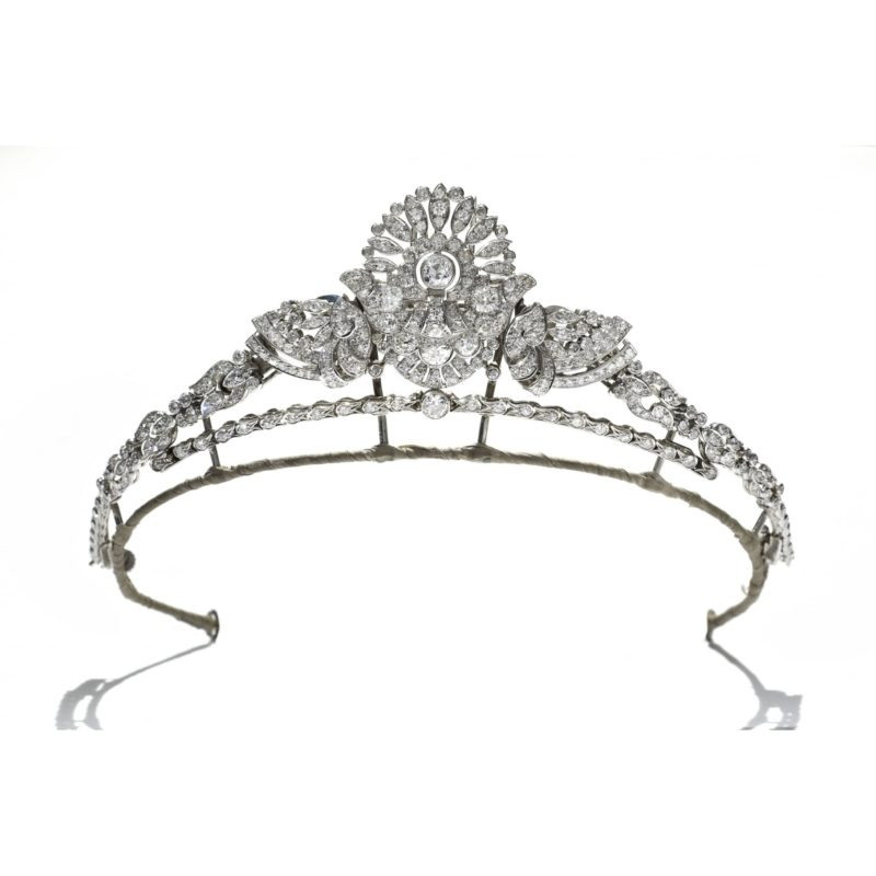 Art Deco Convertible Diamond Tiara in Platinum, Cased by Garrard