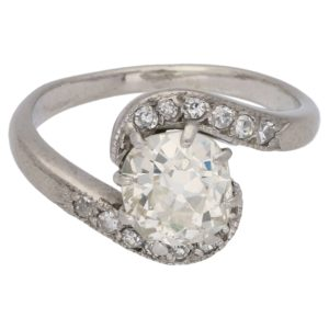 Antique Solitaire Diamond Engagement ring