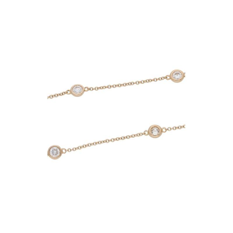 18ct rose gold diamond set chain