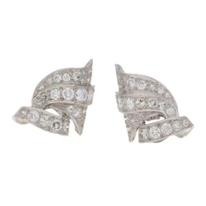 1950's geometric diamond earrings
