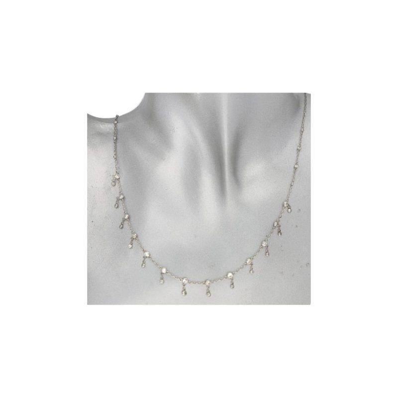 18ct diamond fringe drop necklace