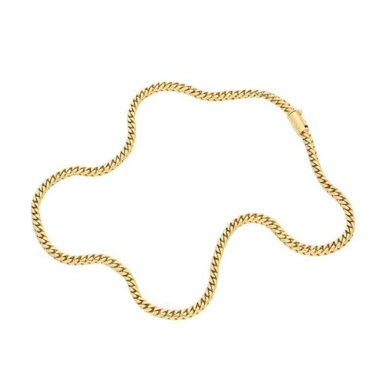 18ct yellow gold chain necklace