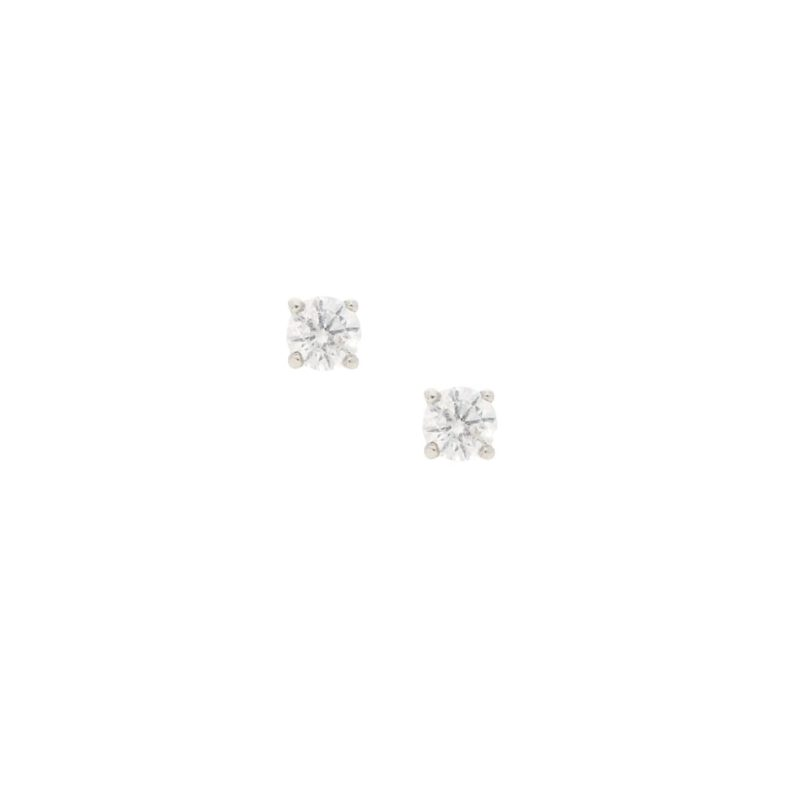 Solitaire diamond earrings 0.50 carats