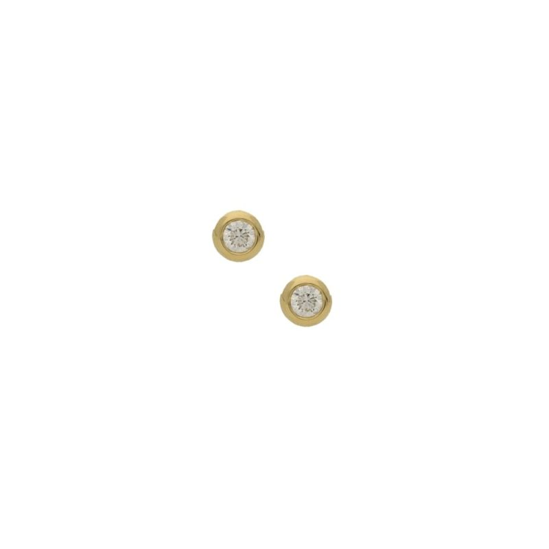 Pair of 0.50ct total diamond stud earrings in yellow gold