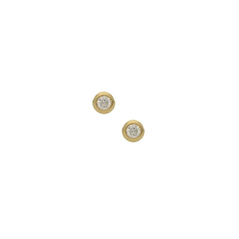 Pair of 0.50ct total diamond stud earrings in yellow gold