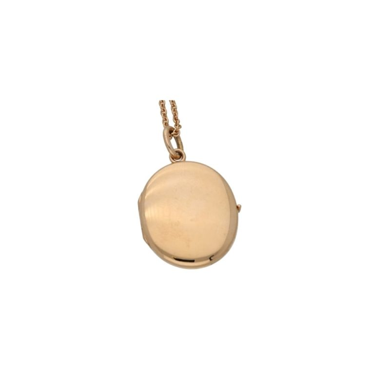 18ct rose gold oval locket