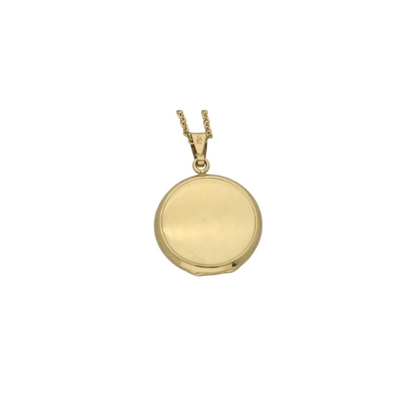 18ct yellow gold round locket