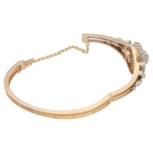 Victorian diamond bangle with removable central pendant