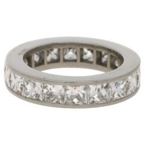 French cut diamond eternity ring