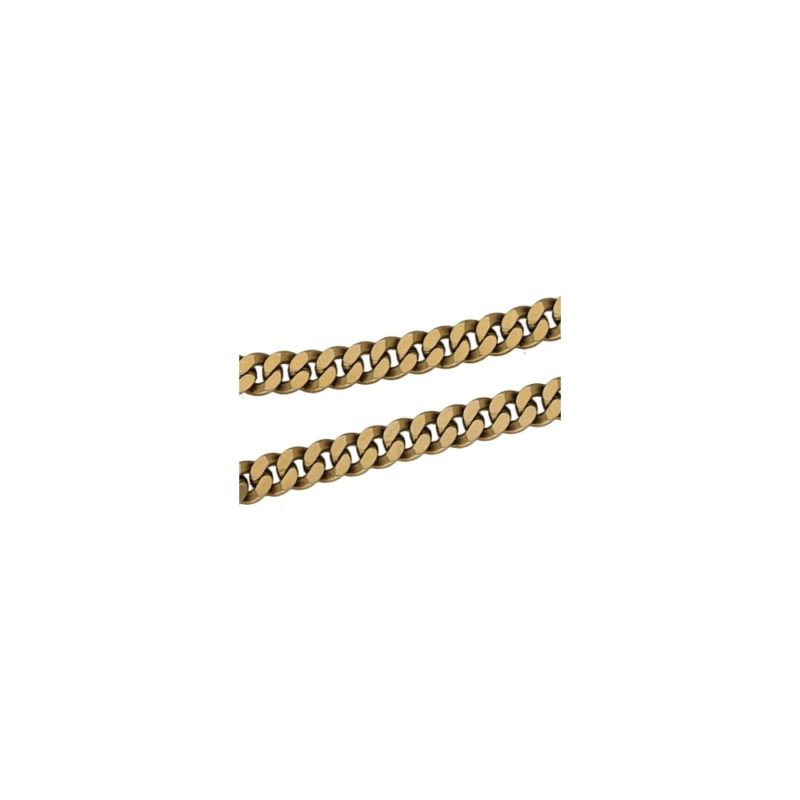 A 9ct yellow gold flat curb link chain