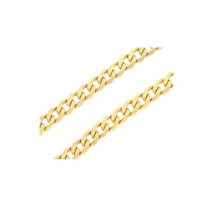 A 9ct yellow gold flat curb link chain necklace