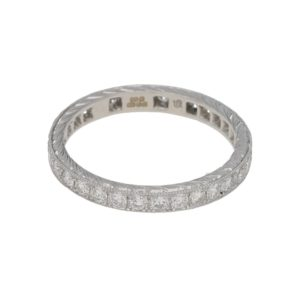 18ct white gold vintage style full eternity ring