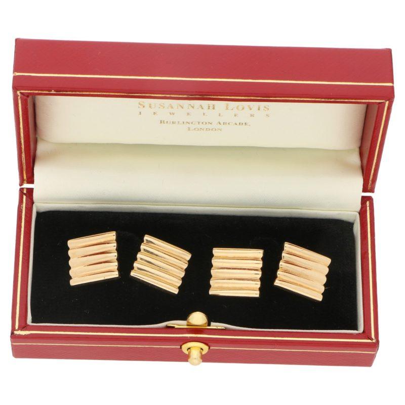 Cartier 14K gold cufflinks