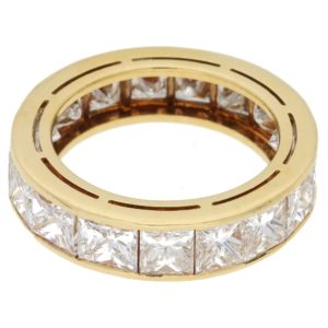 18ct gold princess cut diamond eternity ring
