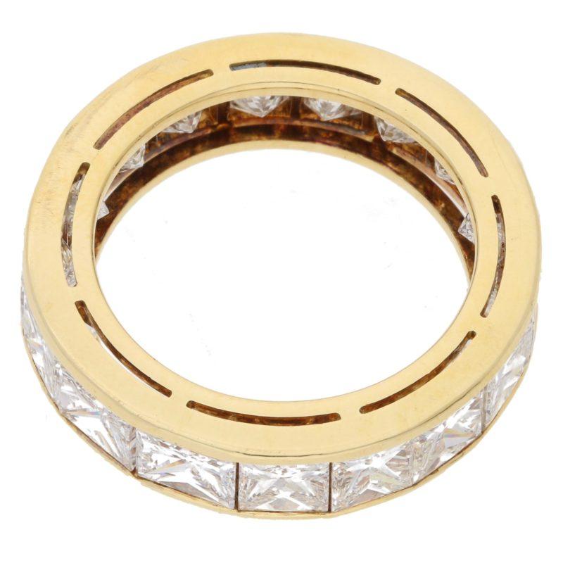 18ct gold princess cut diamond eternity ring
