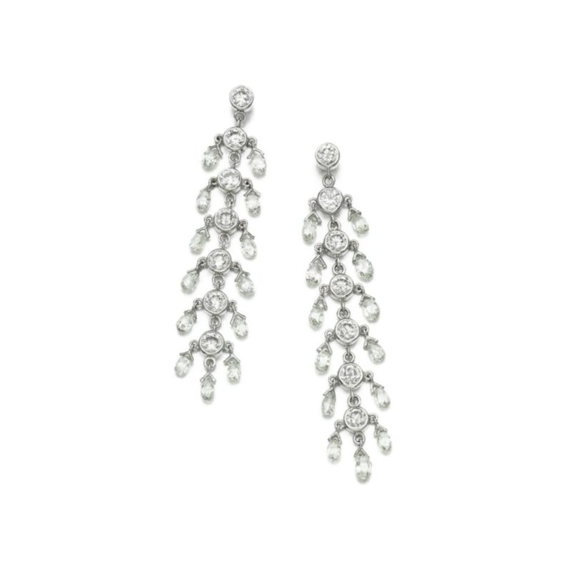 12.7ct Diamond waterfall earrings